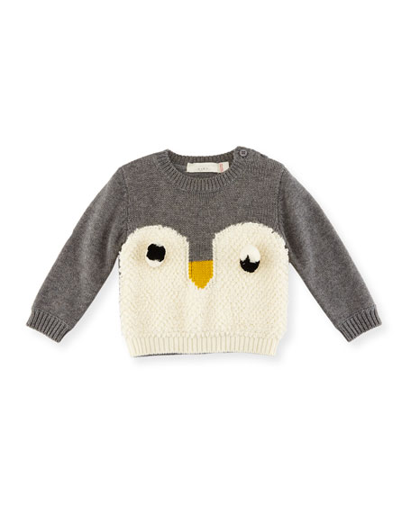 Ira Knit Penguin Sweater, Size 6-36 Months