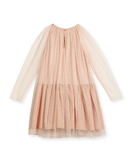 Misty Sparkle Embellished Tulle Dress, Size 4-14