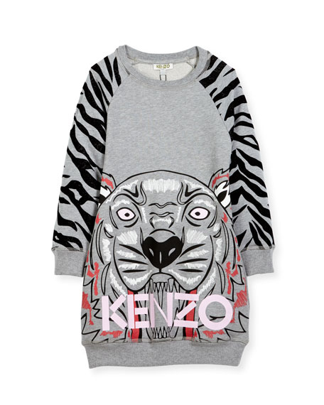 Kenzo Big Tiger Sweater Dress, Size 8-12