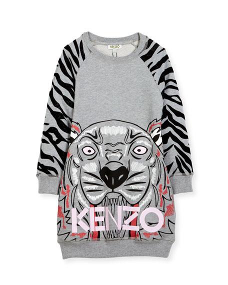 Kenzo Big Tiger Sweater Dress, Size 8-12