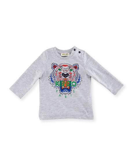Kenzo Long-Sleeve Logo Tiger Tee, Size 12-18 Months
