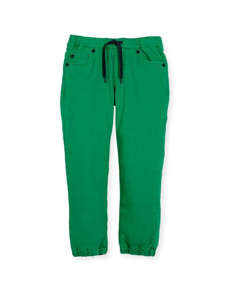 Drawstring-Waist Jeans, Size 8-12