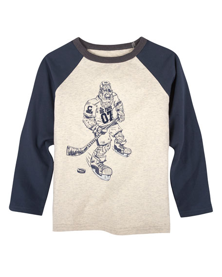 Big Foot Hockey Player T-Shirt, Size 2-7