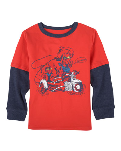 Moto Cowboy Graphic T-Shirt, Size 2-7