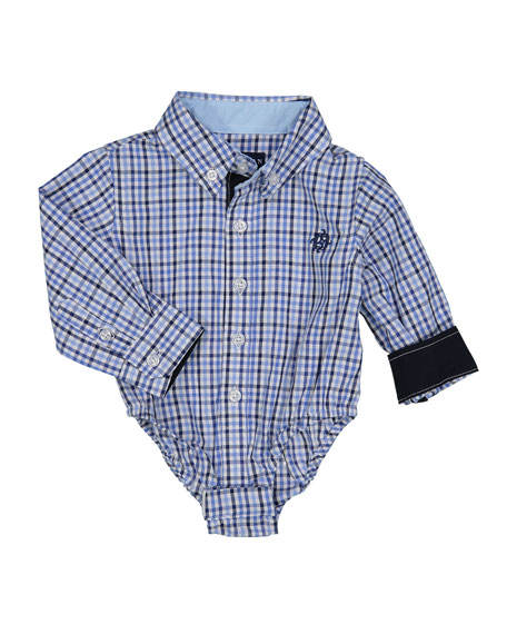 Andy & Evan Boys' Checkered Dress Shirt, Size
