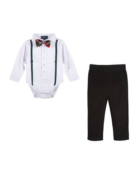 Holiday Polo Shirtzie™ w/ Pants, Size 3-24 Months