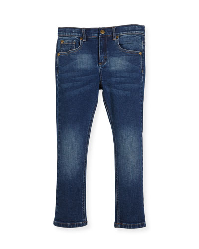 Slim-Leg Denim Jeans, Size 2-10