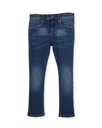 Slim-Leg Denim Jeans, Size 2-10