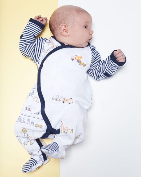 City Demo Pima Footie Pajamas, Size Newborn-9M