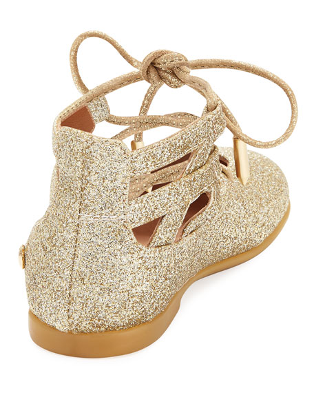 Belgravia Baby Glittered Ballerina Flat, Gold, Infant/Toddler