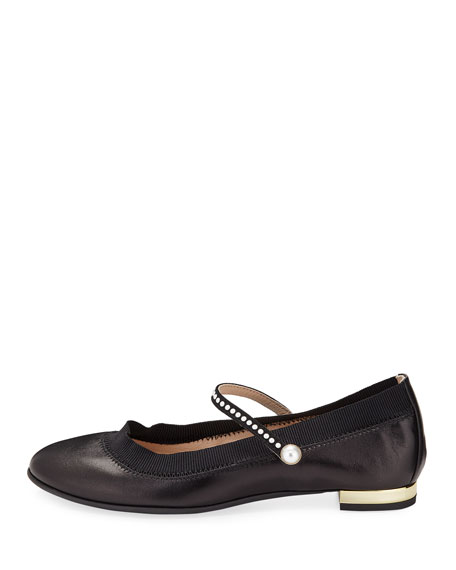 Nolita Pearly Ballerina Flat, Toddler/Youth Sizes 11T-2Y