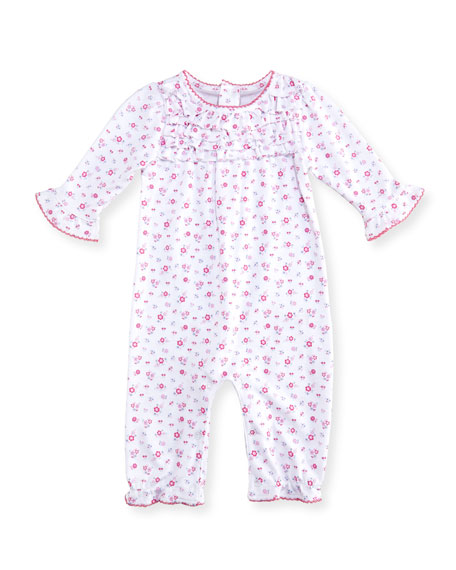 Kissy Kissy Autumn Breeze Floral-Print Pima Coverall, Size