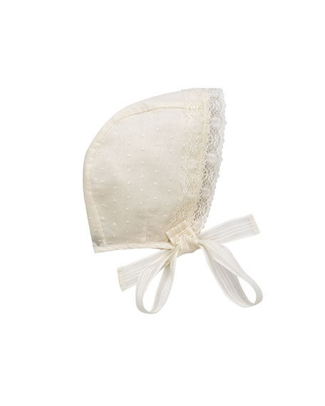 Pili Carrera Woven Lace-Trim Bonnet, Size S-L
