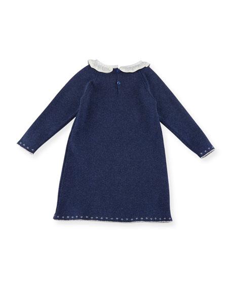 Bunnies Intarsia Sweater Dress, Size 3M-2T