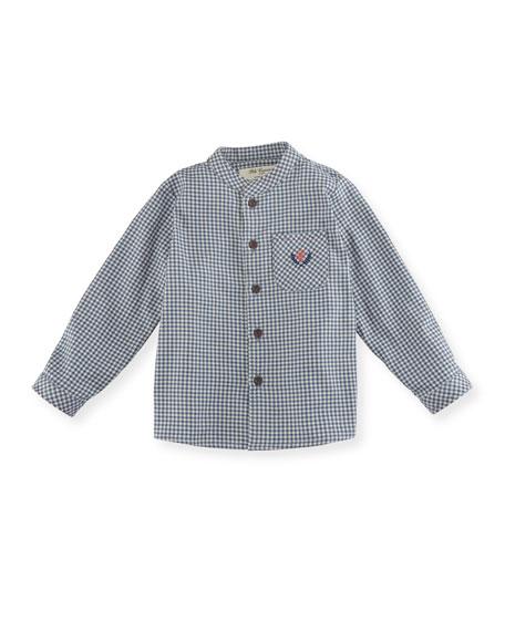 Pili Carrera Check Shirt w/ Contrast Stitching, Size