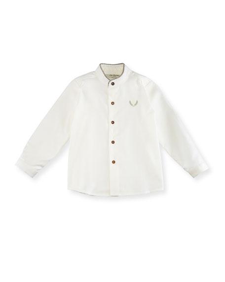 Pili Carrera Mandarin-Collar Shirt, Size 12M-3T