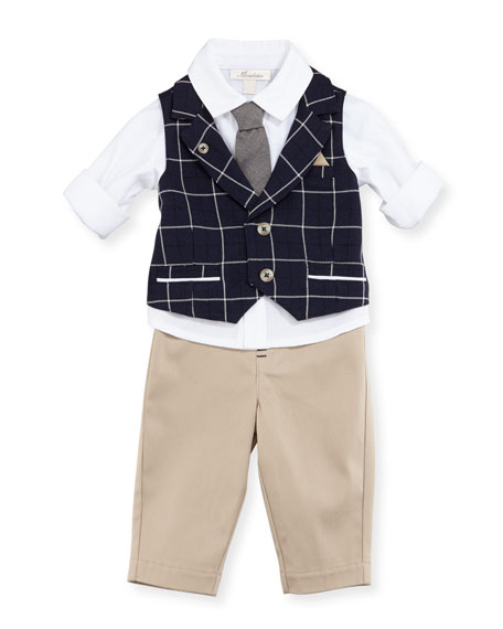Mock-Vest Shirt w/ Pants, Size 2-4