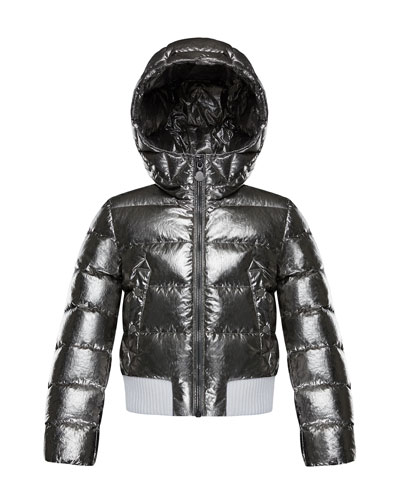 Verglas Metallic Quilted Coat, Size 4-6