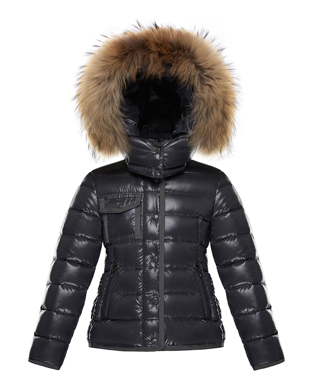 010807280 Moncler Armoise Mini Me Jacket w  Fur-Trim Hood