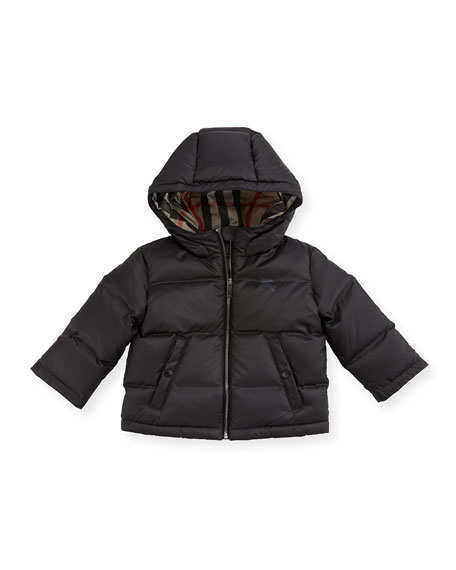 Rio Hooded Puffer Jacket, Gray, Size 6M-3Y