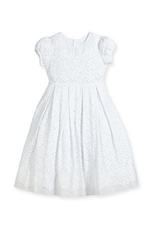 Isabel Garreton Gala Organdy Lace Dress, Size 7-10