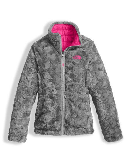 Girls' Reversible Mossbud Swirl Jacket, Pink, Size XXS-XL