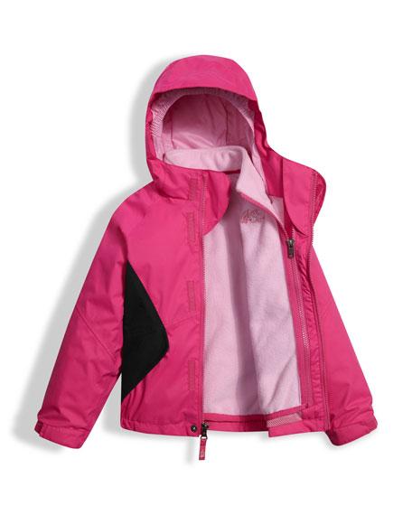 Girls' Kira Triclimate Waterproof Jacket, Pink, Size 2-4T
