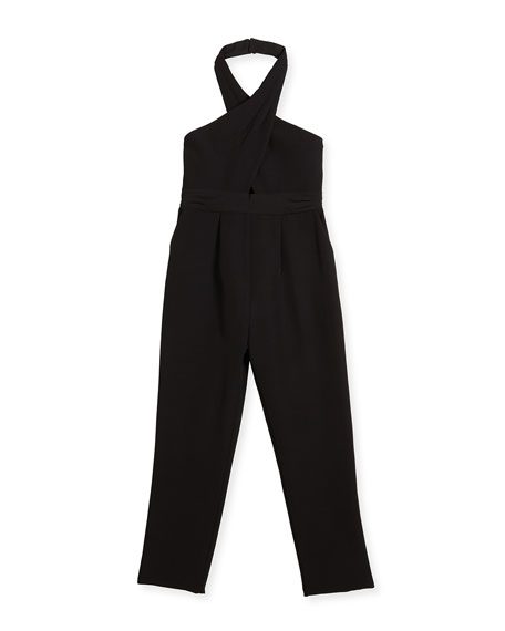 Milly Minis Lulu Cady Stretch Jumpsuit, Size 8-16