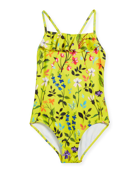 Springfield Ruffle One-Piece Swimsuit, Size 2-14