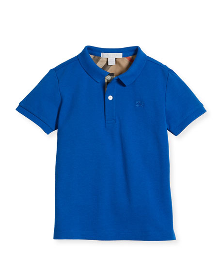Burberry Boys' Cotton Polo, Blue, Size 4-14