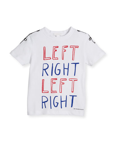 Left Right Graphic Cotton Tee, Size 4-14