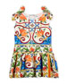 Maiolica-Print Jersey Dress, Size 4-6
