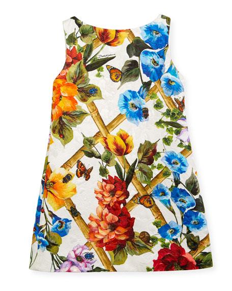 Bamboo Brocade A-Line Dress, Size 4-6