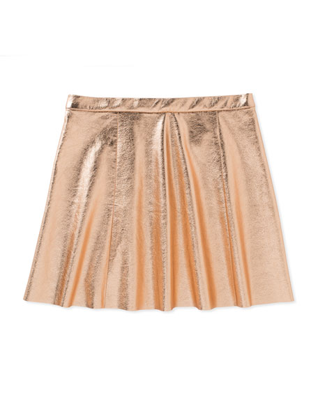 metallic skirt, rose gold, size 2-6