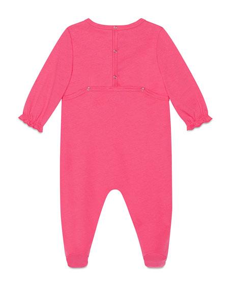 Sylvie Web Bow Footie Pajamas, Size 0-9 Months