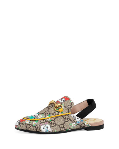 Gucci Princetown GG Supreme & Pets Horsebit Mule Slide, Toddler/Youth Sizes 10T-2Y