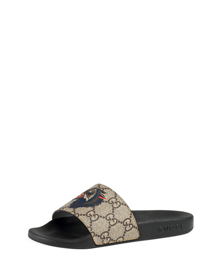 Pursuit Angry Cat & Wolf GG Supreme Canvas Slide Sandals, Kids' Sizes 10T-2Y