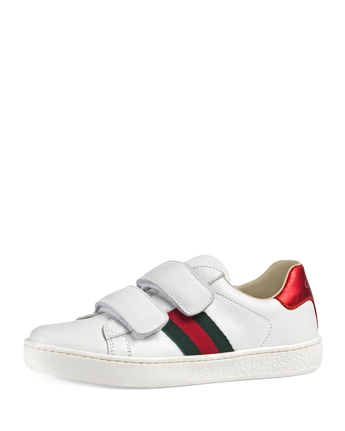 e26ff82902b Gucci New Ace Web-Trim Leather Sneaker