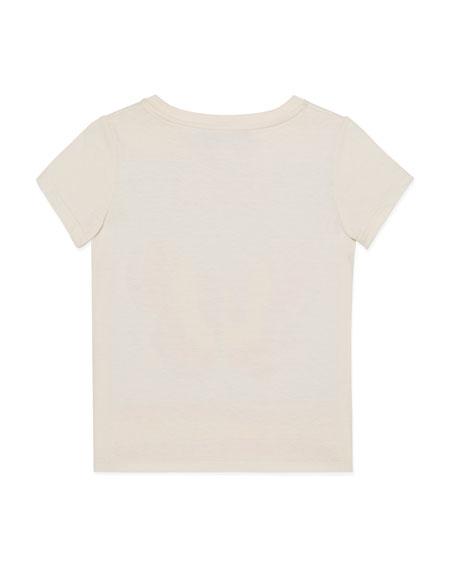Postcard Butterfly Print Jersey T-Shirt, Size 4-12
