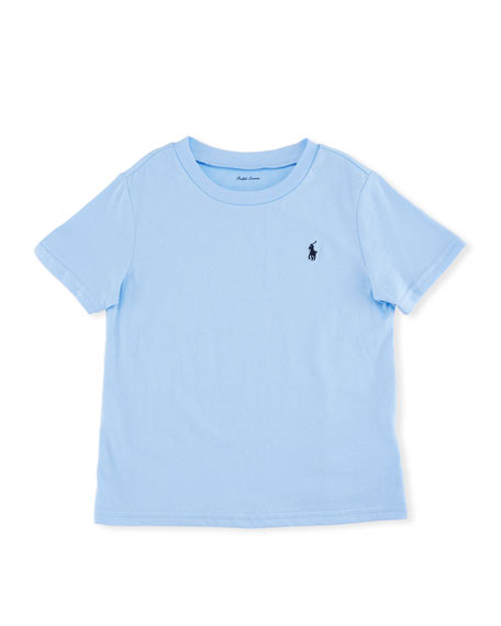 Ralph Lauren Childrenswear Short-Sleeve Jersey T-Shirt, Blue,