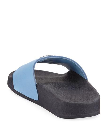 Birel Leather Slide Sandal, Black, Toddler/Youth Sizes 9T-2Y