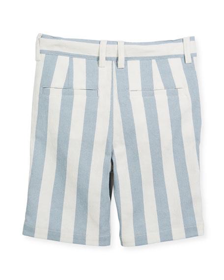Striped Twill Bermuda Shorts, Size 2-8