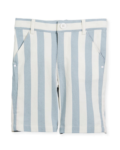 Billybandit Striped Twill Bermuda Shorts, Size 2-8