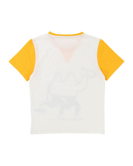Two-Tone Camel T-Shirt, Size 2-8