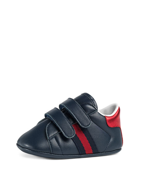 New Ace Leather Grip-Strap Sneaker, Infant