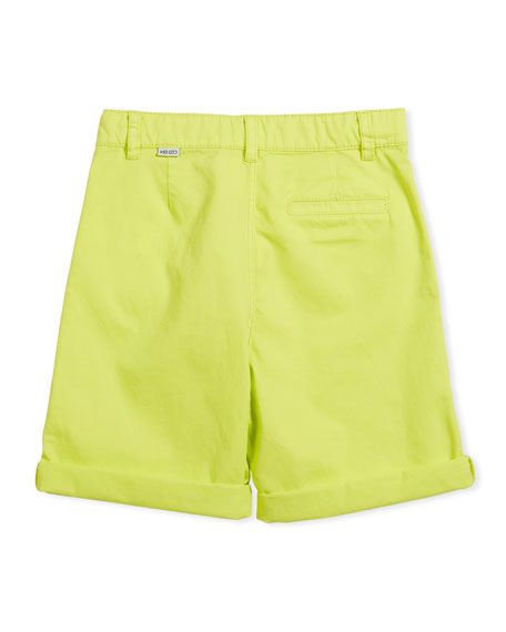 Chino Shorts w/ Logo Pockets, Size 4-6