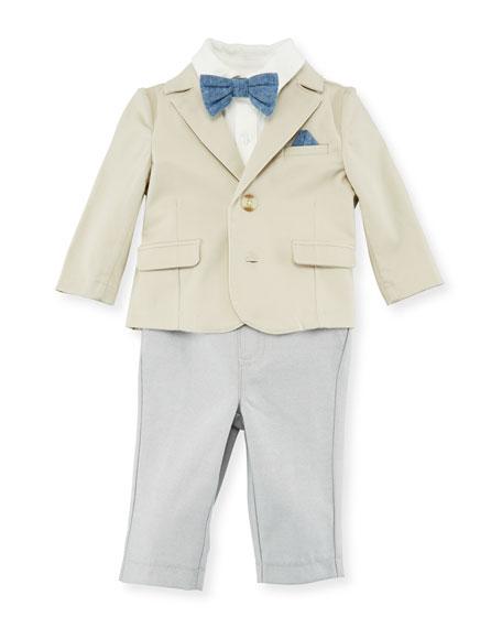 Miniclasix Suit Layette Set, Beige, Size 3-24 Months