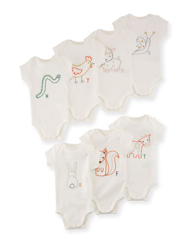 Sammie Day of the Week Bodysuit Boxed Set, Size Newborn-12 Months