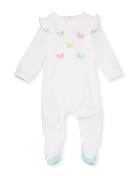 Butterfly Footie Pajamas, Size 1-9 Months