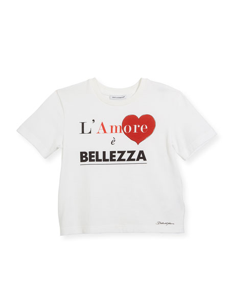 Dolce & Gabbana Belle Amore Short-Sleeve Cotton T-Shirt,